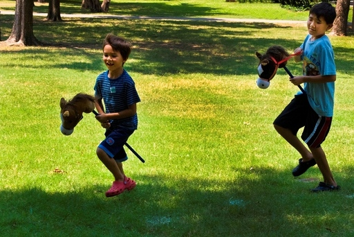 Join the stick horse race!