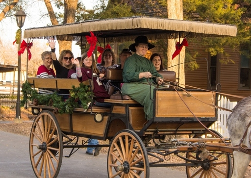 Take a carriage ride with Nip and Tuck!