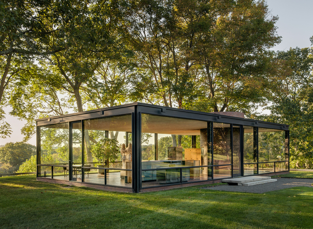 the glass house by iconic architect philip johnson dallas architecture forum. Black Bedroom Furniture Sets. Home Design Ideas
