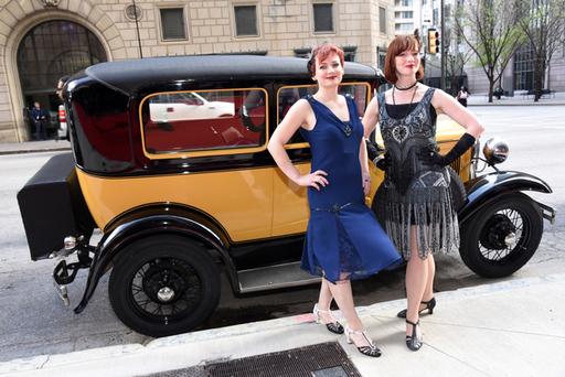 Flappers & Model A Car